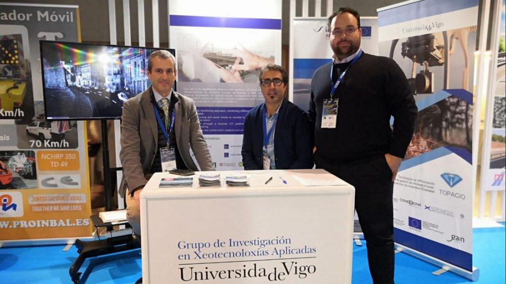 Os representantes da Universidade de Vigo en Innovacarretera